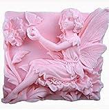 Fairy Blumen spielen mit Butterfly Craft Art Silikonseifenform Craft Moulds DIY