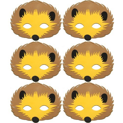 6Stück Niedliche Igel Schaumstoff Kinder Animal Face Masken