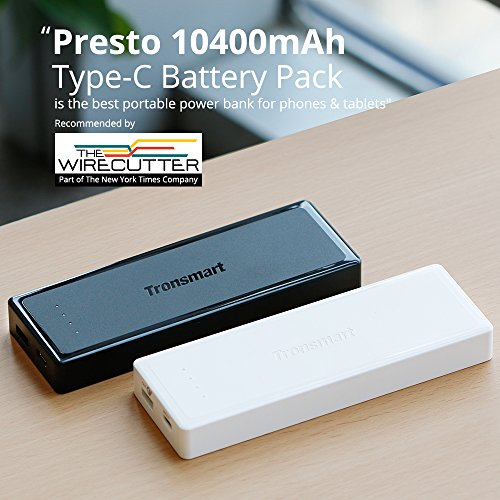 Tronsmart presto 10400mah usb ctype c external batteryportable all mobile accessories reheart Images