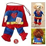 DIGIFLEX Haustier Superman Kostüm, Superhelden – Fasching/Fastnacht, Halloween – Outfit für kleine Hunde oder Katzen bis 25cm Hals - 6