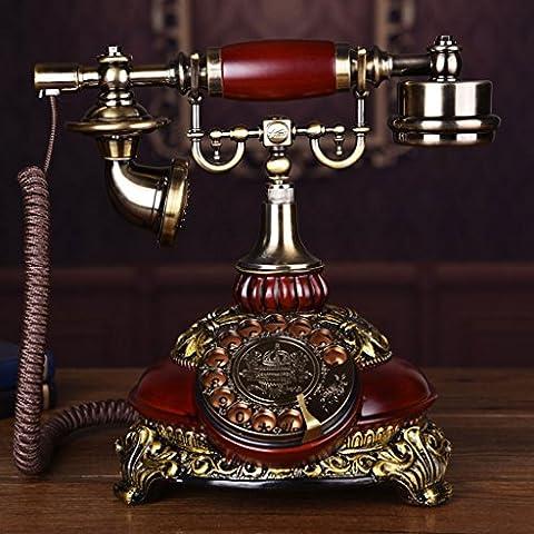 CHENGYI Sonderangebot-Art- und Weisekreative drehen wählen Telefon Retro europäisches Art-Innenministerium Festnetz ( Farbe : Imitation wood color )