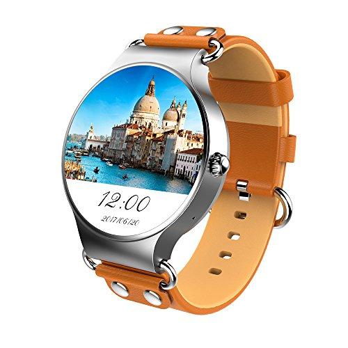 MENGXIANG123 WiFi Smart Watch, integrierte Sport-App unterstützt die Herzfrequenzüberwachung - Unterstützung SIM-Karte Bluetooth-Gerät IP68 wasserdicht,Brown 363 Gps