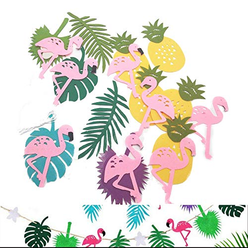 Wohlstand Banner,Tropical Party Banner,3m,Bunting Girlande Banner Sommer Beach Party Dekorationen Hawaii Flamingo Ananas Banner,3 Stück - Ananas-banner