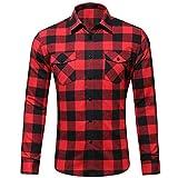 Dehots Herren Hemd Kariert Langarm Karohemd Freizeit Trachtenhemd Slim Fit Für Männer Business Hemden Shirt Herbst Winter, # 01, M