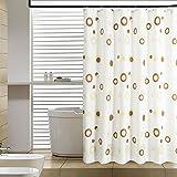 Vorhänge,Verdickung Wasserdicht Anti-schimmel Anti-Falten-duschvorhang, Dusche Vorhang, 100% Polyester.200x210cm(79x83inch)+ Inklusive Bad Ring-L
