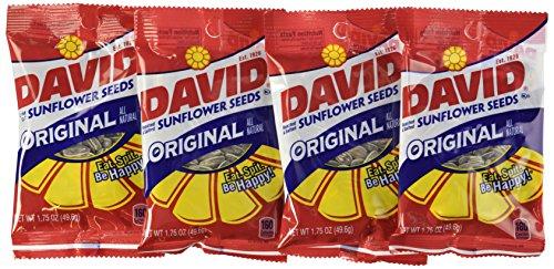 1 Unze Lebensmittel (David Seeds - Original Sunflower Seeds, 1,75-Unze Taschen (Packung mit 24))
