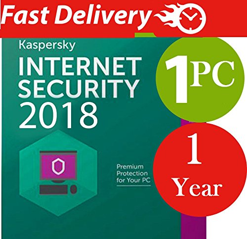 Kaspersky Internet Security 2017 / 2018 For 1 PC / 1 Year ( License Key)