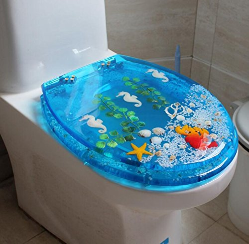 Uncle Sam LI Creative résine épaissie UVO toilettes communes Seat | Charnières Stable | Facile à monter |