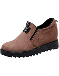 Chaussures Femme à La Mode Chaussures à Talons Compensés en Velours  Augmentant Les Chaussures ... 6ac6553131b7