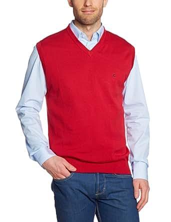 CASAMODA Herren Pullunder 004160/41, Einfarbig, Gr. Medium, Rot (rot 41)