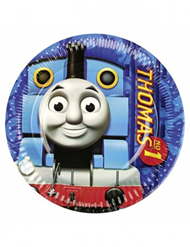 Amscan - 552156 - 8 Assiettes Thomas et Friends Diamètre - 23 cm