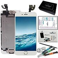 """trop saint Ecran LCD iPhone 6 (4,7)"""" Blanc - Kit Réparation Ecran Complet avec Notice, Tapis de Repérage Magnetique et Outils"""