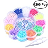 #5: 1200PCS DIY 12 Color 5 MM Funny Hama Beads Craft Beads Colorful Fuse Beads Kit for Kids