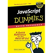 JavaScript For Dummies Quick Reference (For Dummies: Quick Reference (Computers))