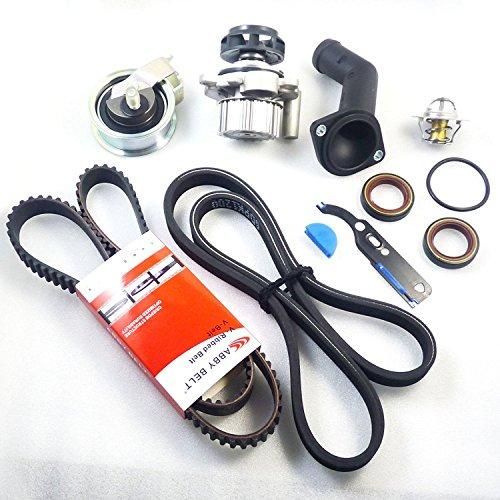 9 pcs Kit de courroie de pompe à eau de 06 A121011l NEUF pour TT Quattro TT Beetle Golf 1.8 l Turbo 1999 2000 2001 2002 2003 2004 2005 2006 050121113 C