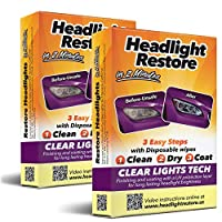 مجموعة إصلاح مصابيح السيارة الأمامية من سي إل تي، مناديل إصلاح المصابيح الأمامية (2)