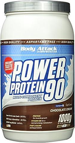 Body Attack, Power Protein 90, Chocolate Cream, 1er Pack (1x 1000g)