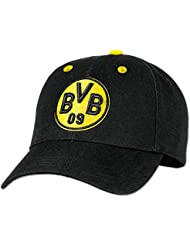 Borussia Dortmund Kappe für Kinder schwarz mit BVB Logo und Größe verstellbar