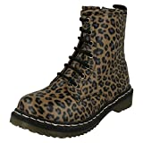 Spot on Kinder/Mädchen Freizeit Schnür-Stiefel (36 EU) (Leopard Muster)