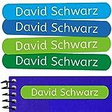 50 Namensaufkleber Namen Sticker Aufkleber Sticker 6 x 1 cm. (Kelle 5) - für Kinder, Schule und Kindergarten - Stifte, Federmappe, Lineale - Markieren von Gegenständen - personalisiert