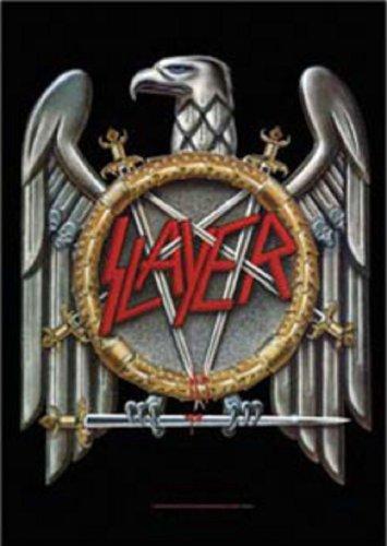 Slayer Flagge Adler schwarz. Offiziell lizenziert (Rock Fahne)