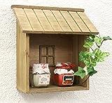 DanDiBo Setzkasten 14B215 Wandregal Shabby H-22 cm Sammlervitrine Küchenregal Regal zum aufhängen