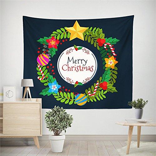 Higlles Hohe Qualität Weihnachten Wandteppich 150x100 cm Hippie Weihnachtskugel Dekoration Drucken Muster Wandbehang Wandteppiche(11 Arten)