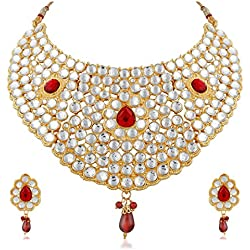 Apara Choker Kundan Necklace set For Women