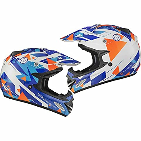 Shox MX-1 Delta Motocross Helmet XXL Blue Orange