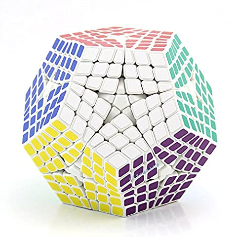 Newest Shengshou Elite Teraminx Cube 6x6 Megaminx Magic Cube Puzzle Learning&Educational Cubo magico Toy as a gift | Dingze (blanc)