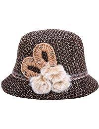Battercake Gorras Sombrero De Campana para Mujer Sombrero De Pesca Moda De  Sombrero Acogedor De Fieltro Elegante Otoño Invierno… dac8768dd92