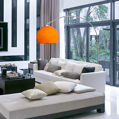 CCLIFE 145-220cm Lampadaire à arc salon, Lampe à arc moderne socle réglable,Lampadaire sur pied/Couleurs au choix