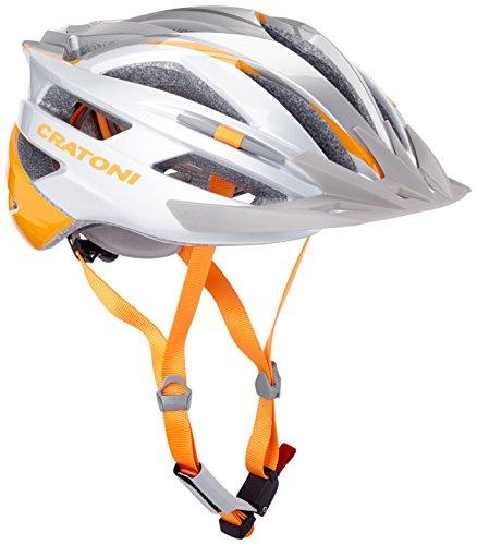 Cratoni Fahrradhelm Agravic - Casco de Ciclismo Multiuso, Color Plateado, Talla 58-62 cm