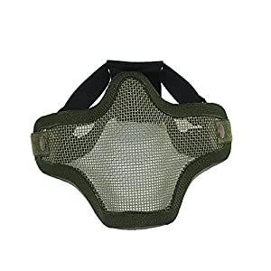 Demi-Masque de protection avec Maille pour Jeu Tactique d'Enfant