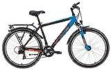 Yazoo Kinderfahrrad 26 Zoll blau/schwarz Devil 2.6 boy Jugendrad - Shimano Schaltung 21 Gänge, Licht, Gepäckträger