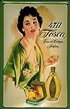 Blechschild Nostalgieschild 4711 Tosca (1) Fläschchen Eau de Cologne Parfum Kosmetik Schild Werbeschild