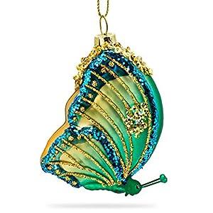 SIKORA BS471 Schmetterling Christbaumschmuck Glas Figur Weihnachtsbaum Anhänger
