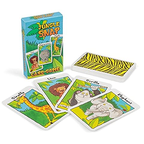 Jungle Snap - Assorted Children's Playing Card Games (1 Supplied)