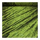 Stoff Polyester Kleidertaft lindgrün Stickerei Blume