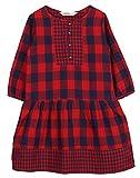 Beebay Girls 100% Cotton Woven Red & Nav...