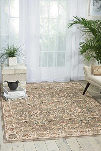 Nourison Teppich Mondrian 99446270221-Grau maschinell gewebt Teppich, grau, 3ft 9Zoll x 5ft 9Zoll - Nourison Nourison Teppich Grau