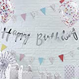 Pick and Mix - Silver Happy Birthday Banner Bunting