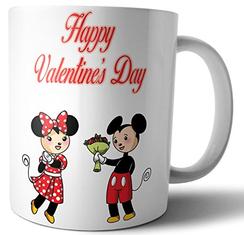 Valentines Day Gift For Him Or Her Cute Cartoon Couple Mickey And Minnie Mug Buy Online In South Africa Ak Gifts Products In South Africa See Prices Reviews
