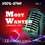 Vocal-Star Most Wanted Vol 1 Karaoke CDG CD+G Disc Set - 18 Songs Including Adele Abba Coldplay Ed Sheeran Katy Perry Little Mix Madonna U2 Prince