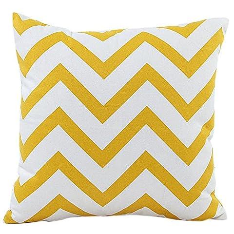 Esailq Multicolore Wavy Patterns Taie d'oreiller Maison Voiture Lit canapé décoratifs Housse de coussin 45cm *45cm, jaune, 45cm *45cm
