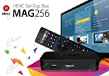 MAG 256 Original IPTV SET TOP BOX Multimedia Player Internet TV IP Receiver mit HDMI v2.0 (HEVC H.265 fähig) + WLAN WIFI Adapter