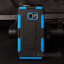 Galaxy S6 Edge Plus Carcasa, Cocomii® [HEAVY DUTY] Galaxy S6 Edge Plus Robot Case **NUEVO** [ULTRA FUTURO ARMOR] Premium Funda Con Clip Para Cinturón Pata De Cabra Kickstand Bumper Case [DEFENSOR MILITAR] De Todo El Cuerpo Híbrido Doble Capa Resistente Cubierta Protectora Cover Bumper Case [COCOMII GARANTÍA] ::: La Mejor Protección Frente A Caídas Y Las Repercusiones De Su Samsung Galaxy S6 Edge Plus ::: ★★★★★ (Black/Blue)