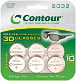 Contour CR2032 6 x 3D Lithium Coin Cell Batteries for Sony and Panasonic 3D Glasses