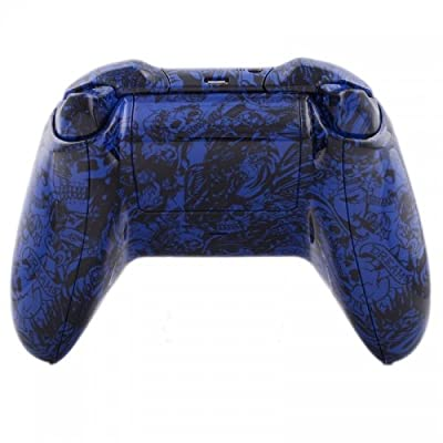 Xbox One Custom Controller - Blue Tattoo Skulls