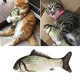 KatzenSpielzeug,Gaxen 1 STÜCK 3D Weiche Heimtierbedarf Katze Plüsch Fisch gefüllt Mint Interaktive Kätzchen Kauen Spielzeug (20)